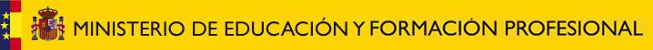 Escudo del Ministerio de Educación y Formación Profesional, formato responsive